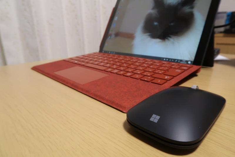 MicrosoftモダンモバイルマウスとSurfacePro7